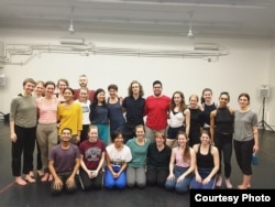 Rady has a group photo with his teacher and friends after the dancing class. (Photo: Nico Brown)