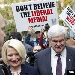 Nyut Gingrich rafiqasi Kallista bilan