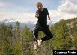 """Floating in air: Visiting Rocky Mountain National Park as part of a """"Mission and Retreat"""" trip with the Methodist Wesley Foundation student ministry Mikah Meyer was part of at the University of Memphis - May 2009."""