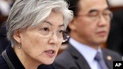 Министр иностранных дел Южной Кореи Кан Ген Хва (архивное фото)