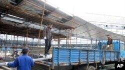 上海世博會工地上的農民工