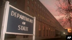 The State Department building in Washington, DC (file photo)