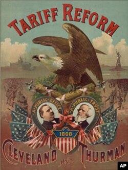 1888年总统竞选中支持改革关税制度的竞选海报