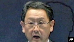 Toyota's top executive, president and CEO Akio Toyoda