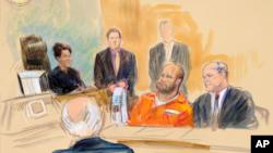 Омар Гонсалес в зале суда