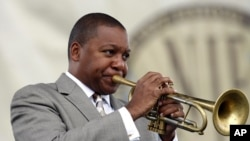 Wynton Marsalis performs at the Newport Jazz Festival in Newport, R.I., Aug. 6, 2011.