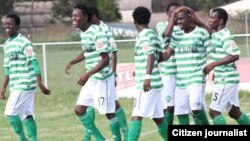 FC Platinum players celebrate after scoring a goal (FC Platinum photo)