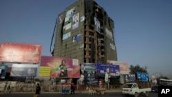 阿富汗總統大選候選人的選舉廣告