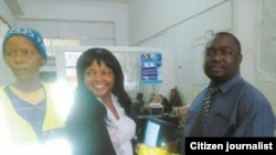 Voluntary Media Council of Zimbabwe's Faith Ndlovu (Center).