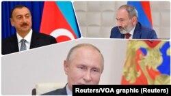 Угоду оголосили президент Азербайджану Ільхам Алієв, прем'єр-міністр Вірменії Нікол Пашинян та президент Росії Володимир Путін