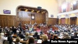 Sednica srpskog parlamenta (arhivski snimak)