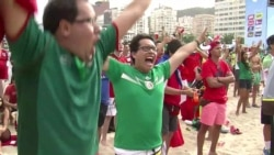 Mexican Fans Revel in World Cup Victory on Rio Beach