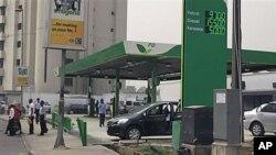 尼日利亚首都拉各斯的一个加油站