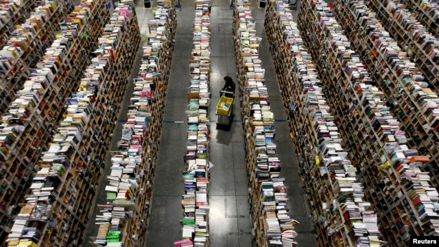 A general view of the warehouse floor at Amazon's distribution center in Phoenix, Arizona, Nov. 22, 2013.