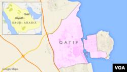 شهر قطیف در شرق عربستان و مجاور خلیج فارس قرار دارد.