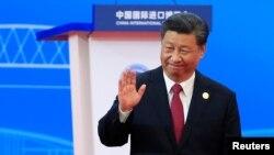 시진핑 중국 국가주석이 5일 상하이에서 열린 제2회 국제수입박람회에 참석했다.