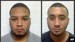 Cette photographie, publiée par le département de police de la Louisiana montre les deux policiers inculpés, Derrick Stafford, 32 ans et Norris Greenhouse, 23 ans, à Marksville, Louisiane, le 10 décembre 2015.