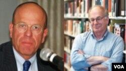 Mantan ketua parlemen Israel (Knesset) Avraham Burg (kiri) dan pemenang Nobel ekonomi, Daniel Kahneman ikut mendukung kemerdekaan Palestina.