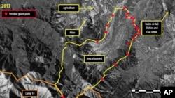 지난해 2월 국제 인권단체 앰네스티 인터내셔널이 공개한 북한 14호 관리소(정치범 수용소)의 위성사진. 디지털글로브 제공.