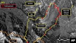 지난 2월 앰네스티 인터내셔널이 공개한 북한 14호 관리소(정치범 수용소)의 위성사진. 디지털글로브 제공.