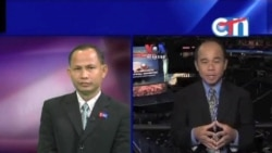 On Eve of Democratic Convention, VOA Khmer's Reasey Poch in Charlotte Reports on CTN (in Khmer)