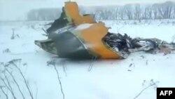 Un Antonov An-148 de la compagnie Saratov Airlines s'est écrasé en Russie, le 11 février 2017.