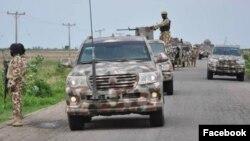 """Rundunar sojojin Najeriya ta """"Operation Hadin Kai"""" a bakin aiki (Facebook/Nigerian Army)."""