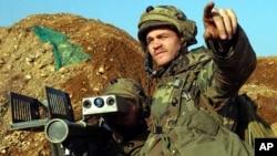 Binh sĩ Mỹ nhắm bắn với tên lửa vác vai Stinger trong cuộc tập trận chung hằng năm với quân đội Nam Triều Tiên