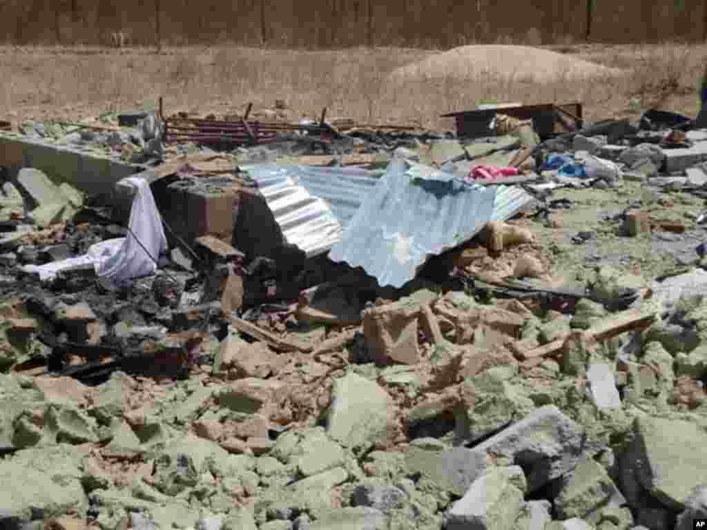 Bomb factory compound at Kaleri Ward outside Maiduguri, Nigeria.