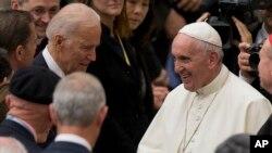 APTOPIX Vatican Pope Biden