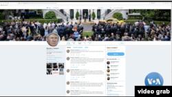 Akun Twitter Presiden Donald Trump. (Foto: VOA/videograb)