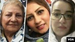 از راست: شهلا جهانبین، نرگس منصوری و گیتی پورفاضل