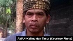 Petrus Asuy (Foto: AMAN-Kalimantan Timur)