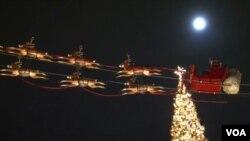 Suasana Natal di Los Angeles.