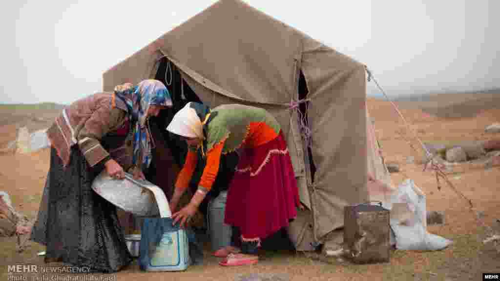 زنان عشایر شاهسون در دشت مغان - عکس قدرت الله فرد