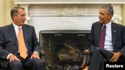 Presiden AS Barack Obama bersama Ketua DPR John Boehner (Foto: dok).