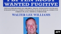 "Federal Bureau of Investigation wanted poster for alleged child sex predator Walter Lee Williams, following a press conference to announce the FBI's 499th and 500th additions to the ""Ten Most Wanted Fugitives"" list on June 17, 2013 at the Newseum in Washi"