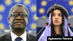 ၂၀၁၈ ႏိုဘဲလ္ၿငိမ္းခ်မ္းေရးဆုရွင္မ်ား ေဒါက္တာ denis mukwege နဲ႔ လူ႔အခြင့္အေရးလႈပ္ရွားသူ nadia murad
