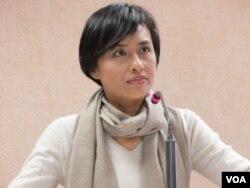 台湾在野党民进党立委邱议莹(美国之音张永泰拍摄)
