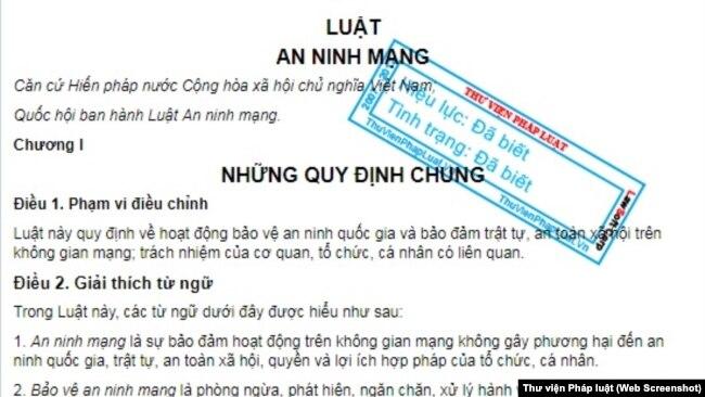 Luật an ninh mạng vừa được Quốc hội Việt Nam thông qua với 86 phiếu ủng hộ.