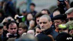 Сергей Удальцов на митинге в поддержку Олега Шеина