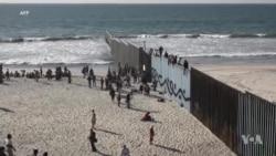 La caravane de migrants à la frontière avec les États-Unis (vidéo)