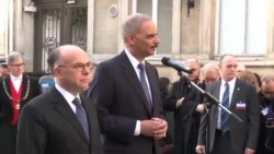 وزیر دادگستری آمریکا در راهپيمايی همبستگی پاريس