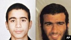 2002년에 체포될 당시(사진 왼쪽) 모습과 관타나모 수용소에 수감되서 올해로 26살이 된 오마르 카다르(사진 오른쪽)
