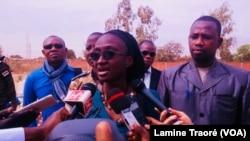 Sandrine Estelle Gampiné, directrice générale de l'agence nationale de régulation pharmaceutiqueà Ouagadougou, Burkina Faso, le 11 février 2019. (VOA/Lamine Traoré)