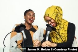 "Makkah Ali and Ikhlas Saleem, co-hosts of the podcast ""Identity Politics."""