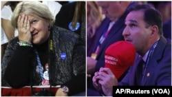 Agoch-yon sipòtè Hillary Clinton kap suiv rezilta eleksyon yo nan New York. Adwat- yon sipòtè kandida Repibliken an Donald Trump nan Manhattan, New York. 8 Nov. 2016
