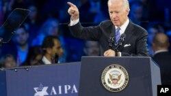 Hablando ante el lobby judío en Washington, Biden advirtió sobre la ideas radicales y racistas de Donald Trump.