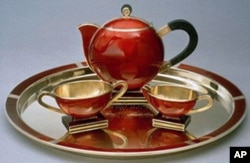 挪威王储夫妇送给罗斯福总统的茶具