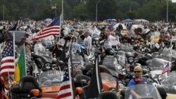 موتورسواران در اطراف پنتاگون در واشنگتن- یکشنبه ۲۹ مه ۲۰۱۱